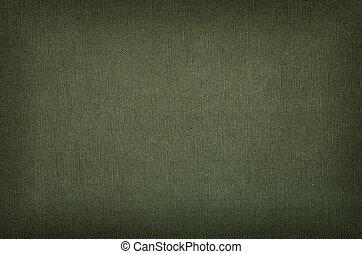 olive, groene, katoen, textuur, met, vignet