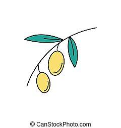 Olive icon, cartoon style