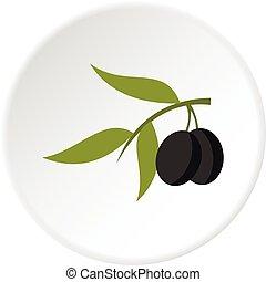 Olive icon circle