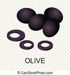 Olive icon, isometric style
