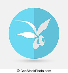 Olive icon on a white background