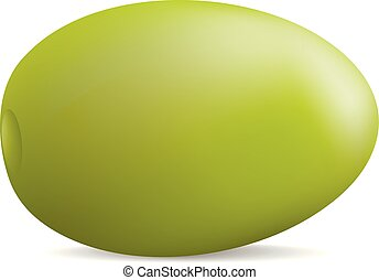 Olive icon, realistic style