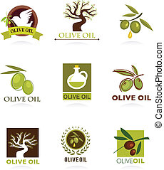 Collections of olive icons and logos
