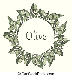 Olive in a circle frame