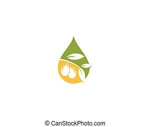 olive, logo, olie, mal