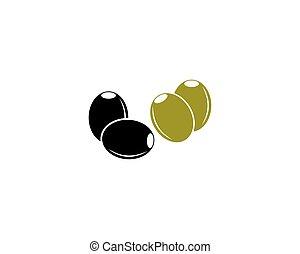 olive, logo, olie, mal, vector