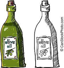 Olive Oil - A bottle of olive oil.