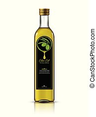 Olive Oil Bottle With Label