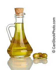 olive oil condiment vegeterian food - close up of olive oil ...