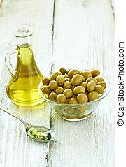 olive oil condiment vegeterian food