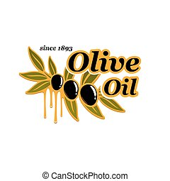 Olive oil cooking olives product vector icon