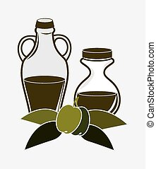 Olive oil design. - Olive oil design over white background,...