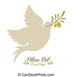 Olive oil design over white background, vector illustration