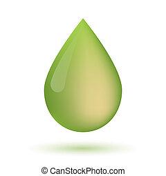 Olive oil drop icon
