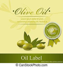 Olive oil label pattern