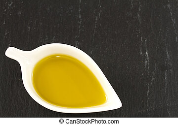 olive oil in small bowl