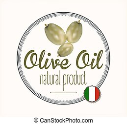 olive oil label Italy