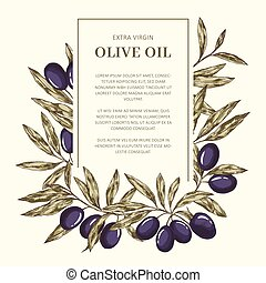 Olive Oil Label template
