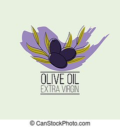 olive oil logo in cartoon style. Vector illustration for design, web and decor