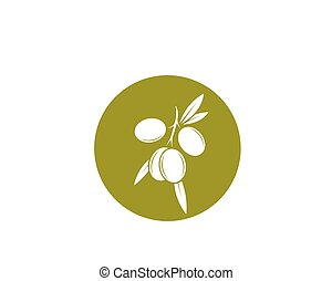 olive oil logo template vector