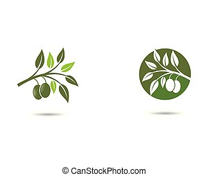 Olive oil logo vector icon