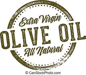 Olive Oil Menu Stamp Design