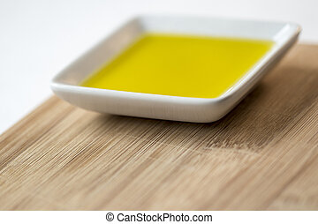 Olive Oil On Serving Platter