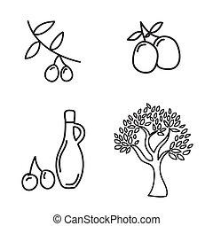 olive oil over white background vector illustration