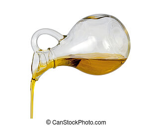 Olive Oil Pour isolated on a white background