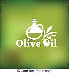 Olive oil vector backgound - Olive oil vintage vector...