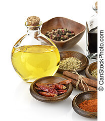 Olive Oil, Vinegar And Spices