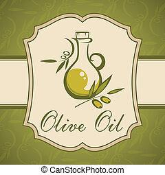 Olive oil. Vintage label.