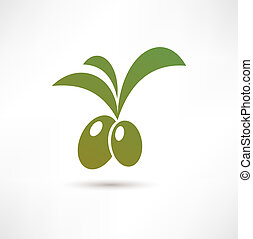 olive, pictogram