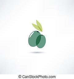 olive, pictogram