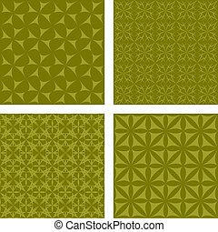 Olive seamless background set - Olive seamless pattern...