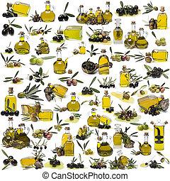 olive, sur, ensemble, oil., plus grand