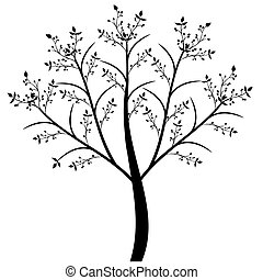 Olive Tree - Abstract olive tree isolated on white...