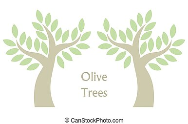 Olive trees vector