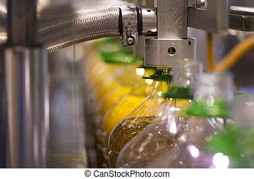 olive, usine, production, huile