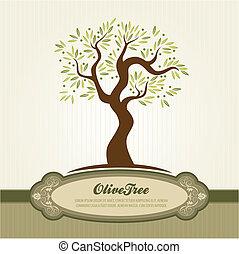 olive, vendange, vecteur