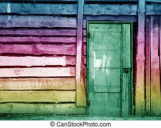 olive vintage wooden door