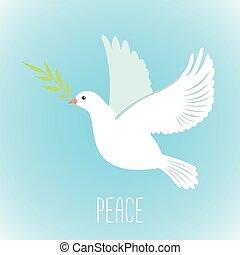 olive, vrede, duif, tak