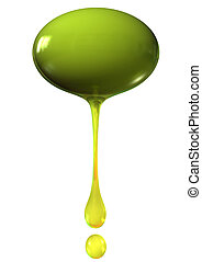 olive with drops of oils isolalted on white background