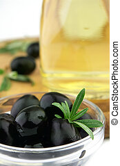 Olive with oil