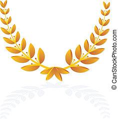 olive wreath icon
