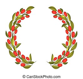Olive Wreath or Olive Crown with Red Fruit