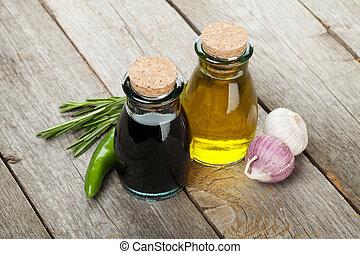 olive essig oel flaschen essig oel freigestellt bottles hintergrund olive wei es. Black Bedroom Furniture Sets. Home Design Ideas