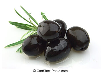 olivenzweige, mit, olivenöl