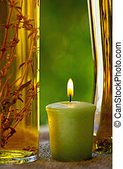 oliveoil, und, candle.