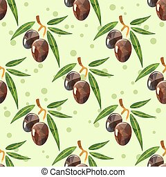 olives green seamless pattern